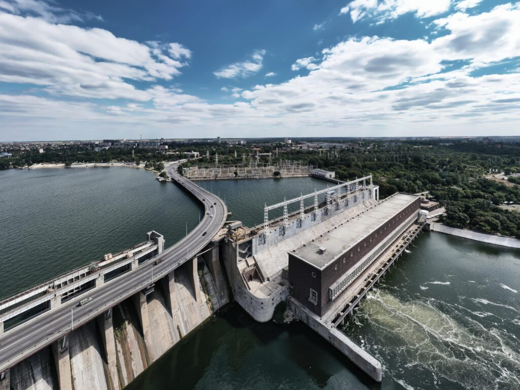Hydropower plants convert kinetic energy into electrical energy